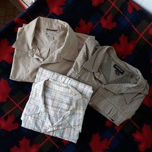 Three WindRiver Short-Sleeve Button Down Shirts